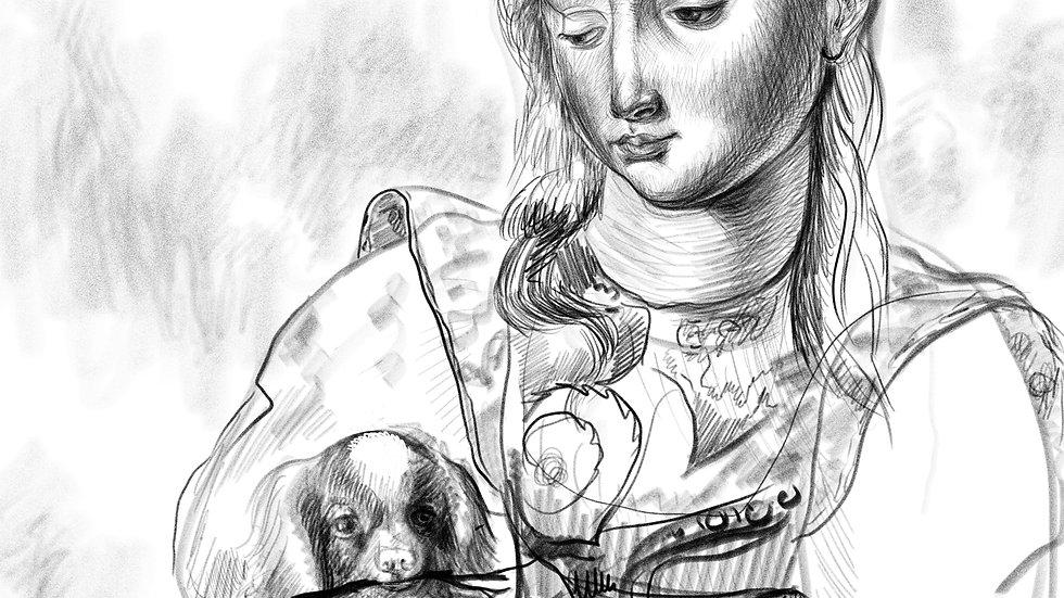 Meisje met hond, 2020