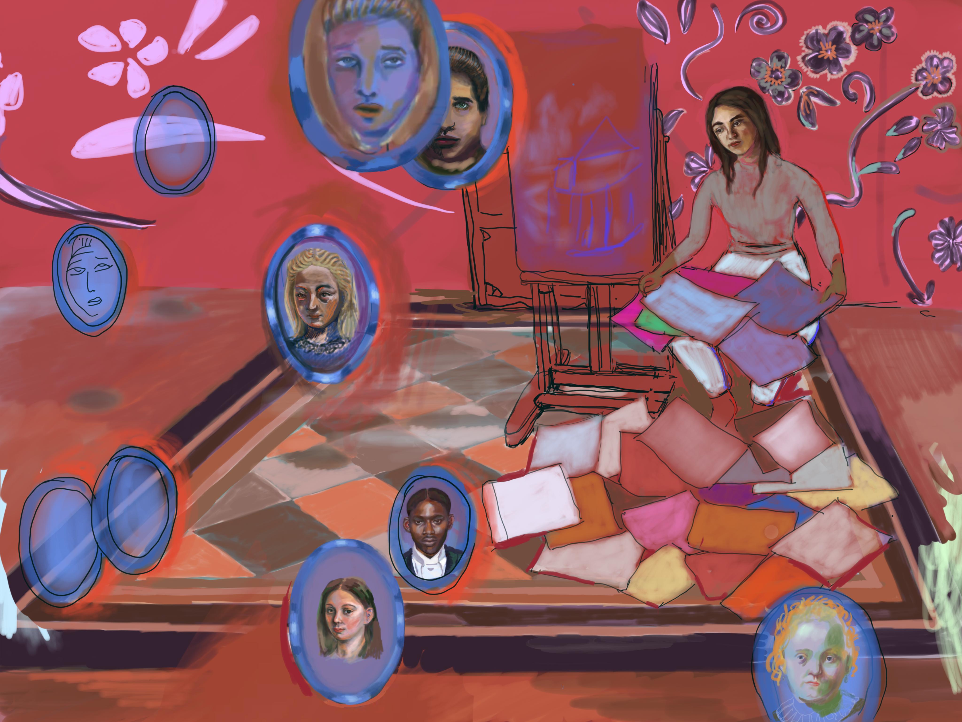 In het rode atelier, 2019
