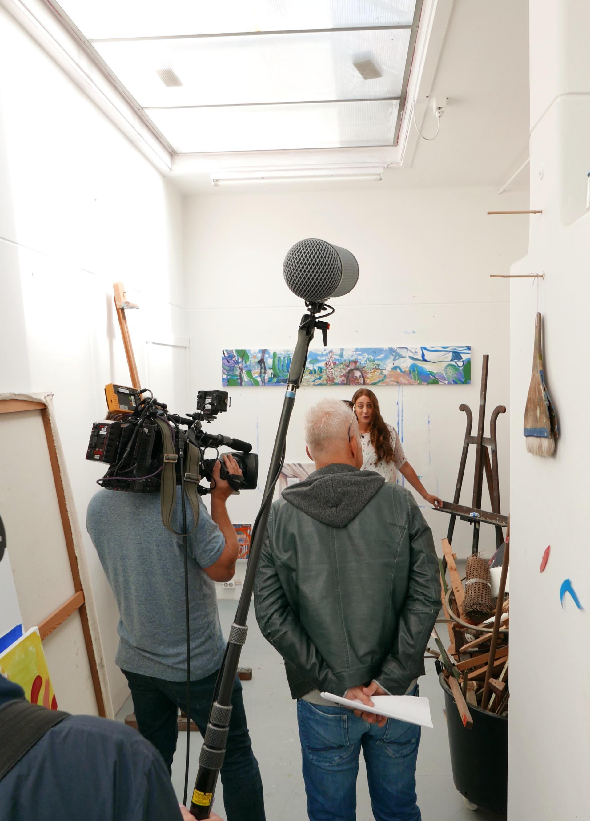 Juliette met Cuypers' schildersezel