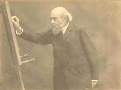 Pierre Cuypers aan een schildersezel