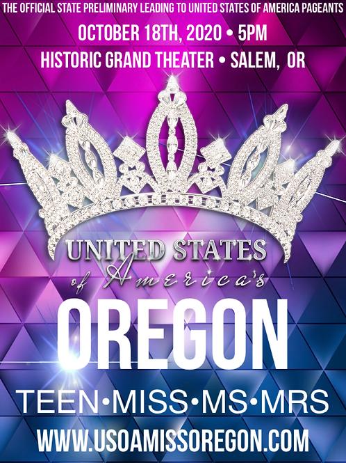 USOA Miss Oregon Tickets