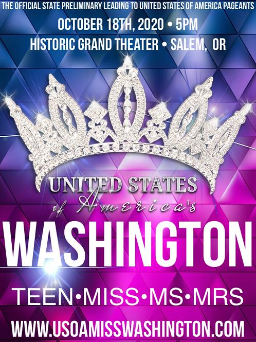 USOA Miss Washington Tickets