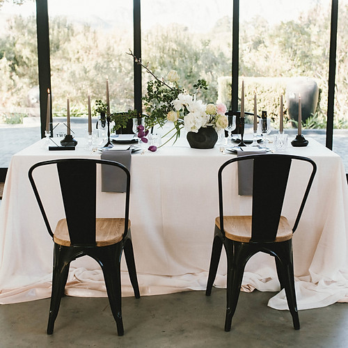 Black Bridal Accents Illuminated by Colour - Styled Shoot