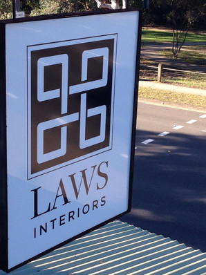 Laws Interiors Signage