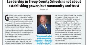 Troup County Schools: Superintendent Shumate