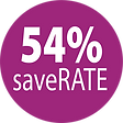 54% saveRATE