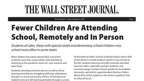 Fewer Children Are Attending School, Remotely and In Person