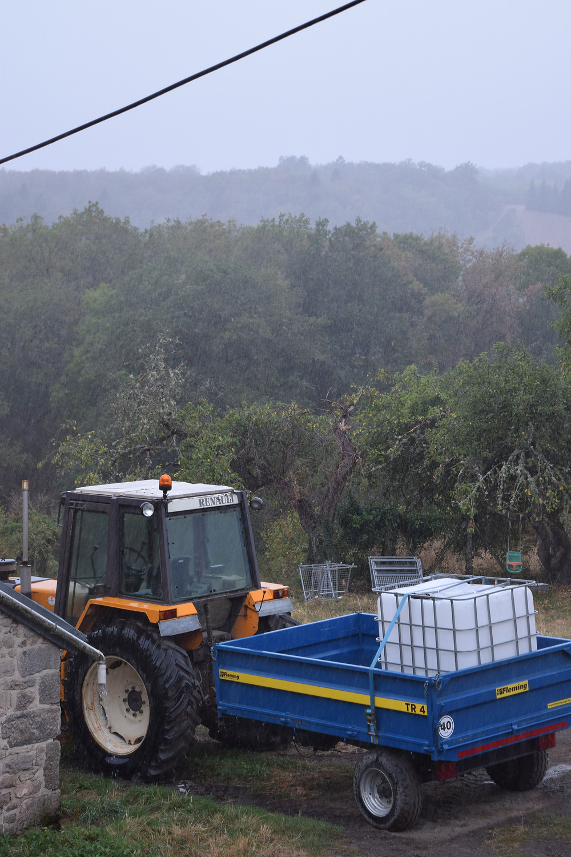 rain on tractor