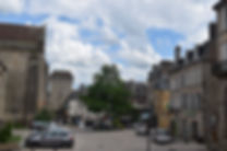 old town in gueret, great for shopping within easy distance of camping in smallholding courses