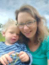 The owner katie wrenn with small boy jack