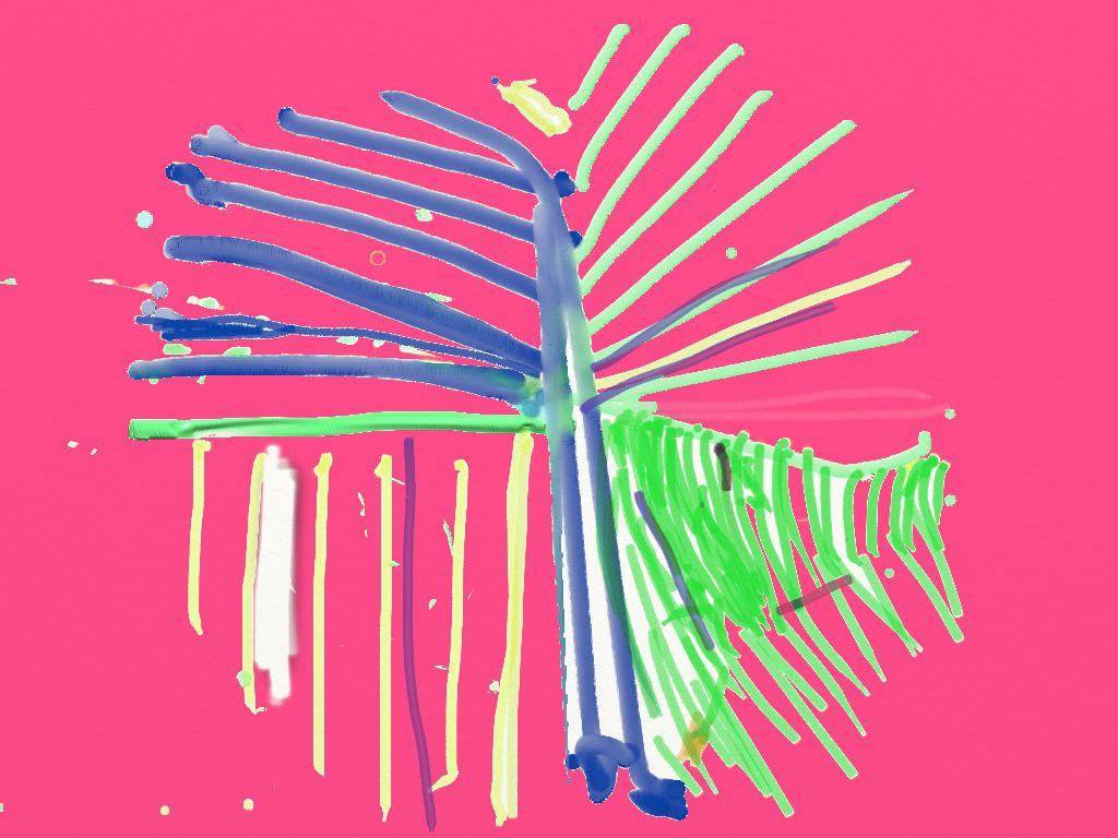 Striped Mandala on Pink (detail)