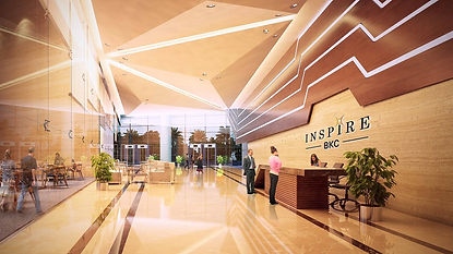Plush Entrance Lobby at Inspire BKC Atrium