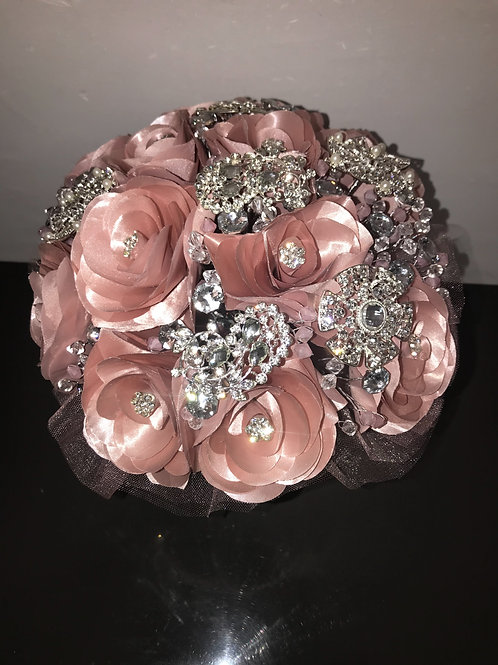 Dusty Rose (mauve) with Silver Bouquet