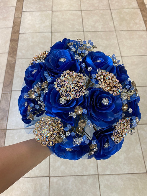 Royal blue with Gold Lupita Bouquet
