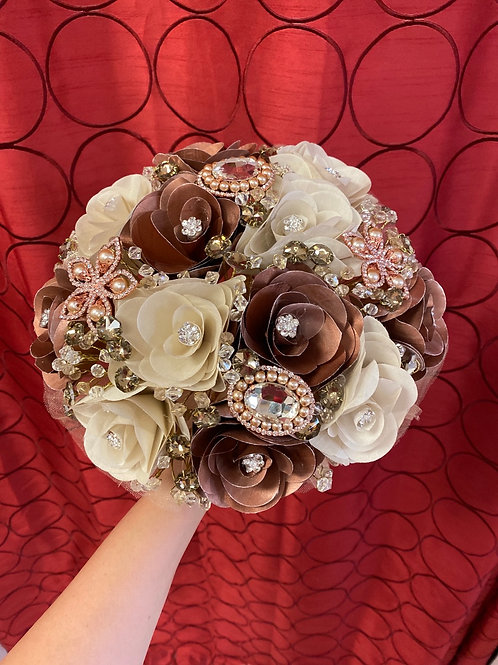 Rose gold & Champagne Bouquet