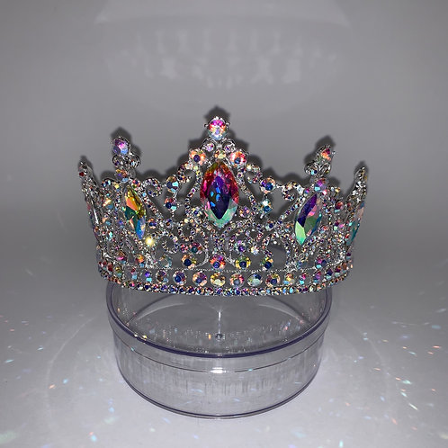 Silver iridescent FULL Circle Crown