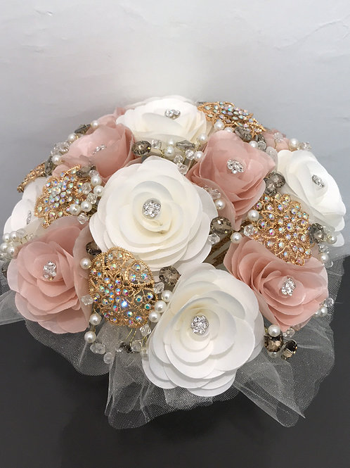 Ivory & Blush with Gold Bouquet