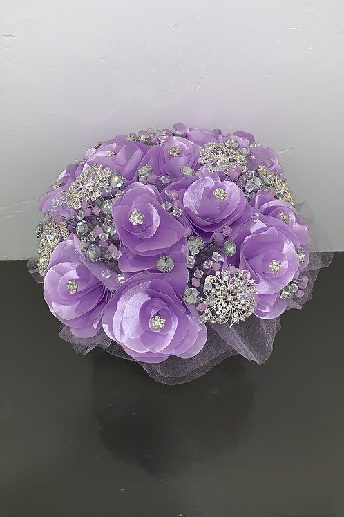 Lila with Silver Bouquet