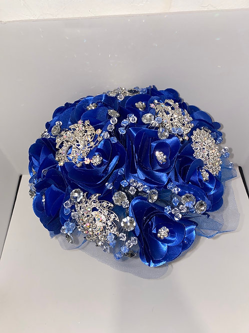 Royal Blue with Silver Lupita Bouquet