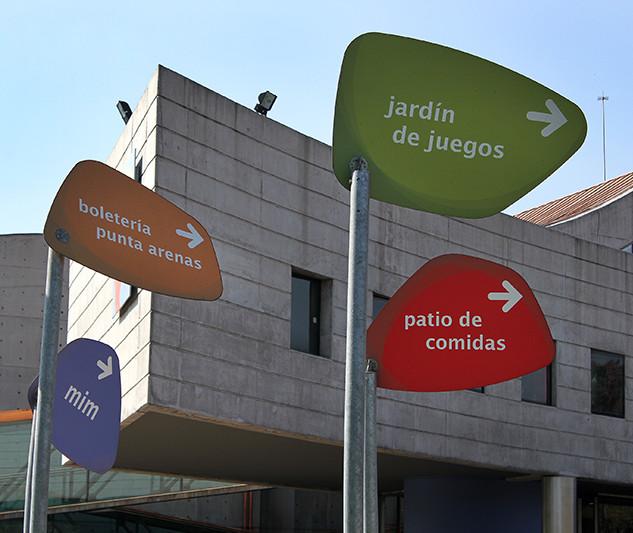 Señalética Parque de las esculturas, Municipalidad de Providencia, 2015.