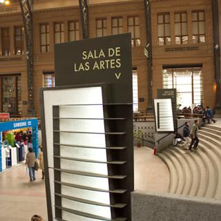 Señalética Centro cultural Estación Mapocho, 2014.