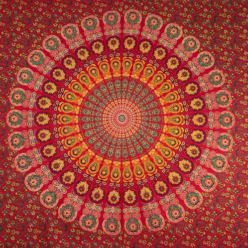 Mandala kleed Red
