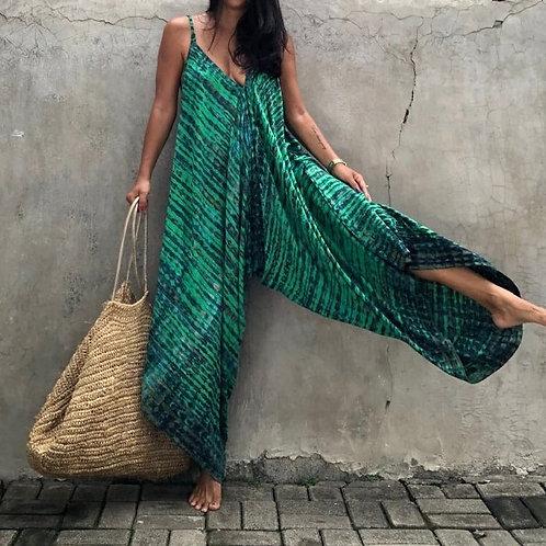 Ibiza style jumpsuit Green Velvett