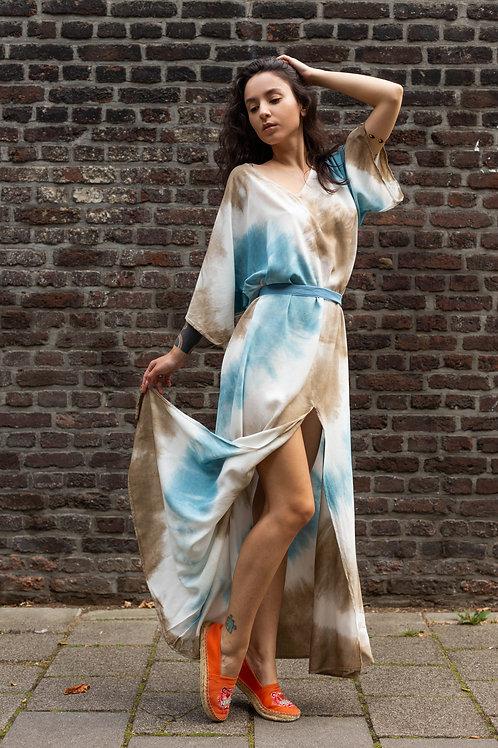 Bohemian Maxi jurk Ocean Blue