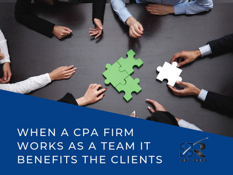When A CPA Firm Works As A Unified Team It Benefits The Clients