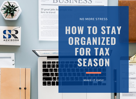 How To Stay Organized For Tax Season
