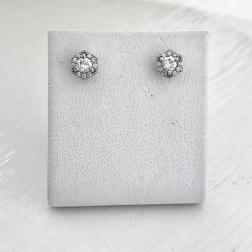 Hexagon Halo Studs