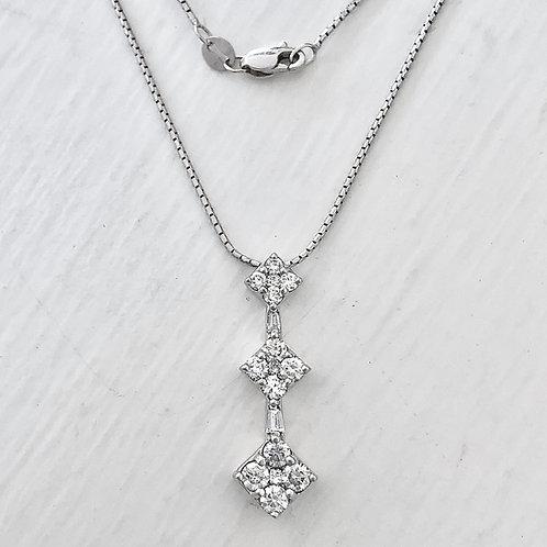 Diamond Cluster Drop Pendant
