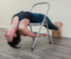 DWI PADA VIPARITA DANDASANA (Inverted Staff Pose On Chair)