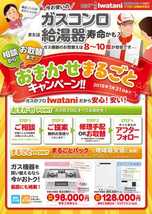 『株式会社イワタニ』キャンペーンチラシ