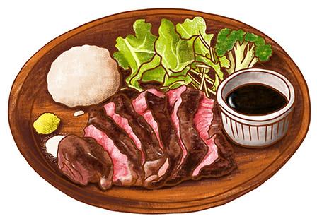 肉バルガブット メニューイラスト
