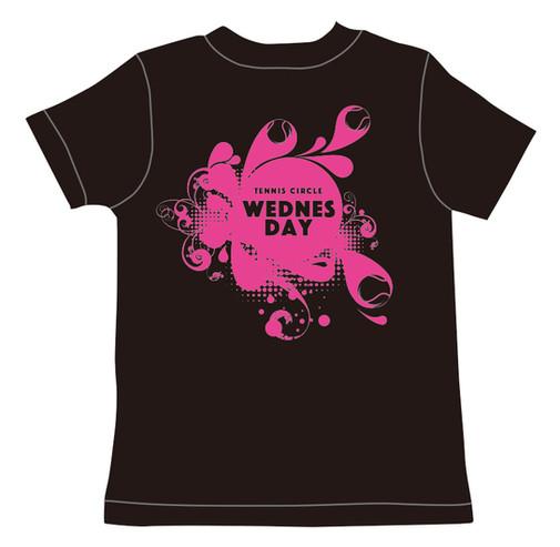 『テニスサークル ウエンズデー』Tシャツデザイン