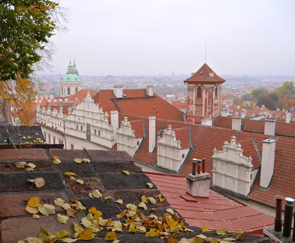 View of the city from the Prague Castle Gardens