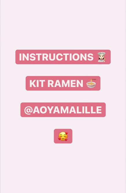 instruction préparation kit ramen aoyama lille restaurant japonais
