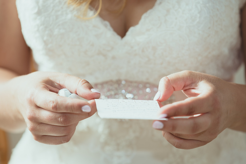 letter from the brides husband