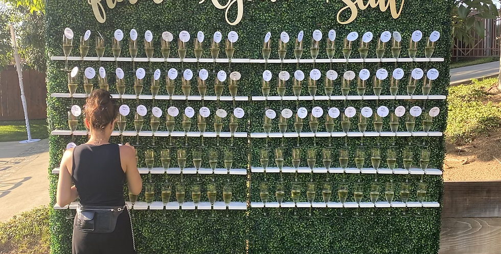 Champagne Hedge Wall Rental