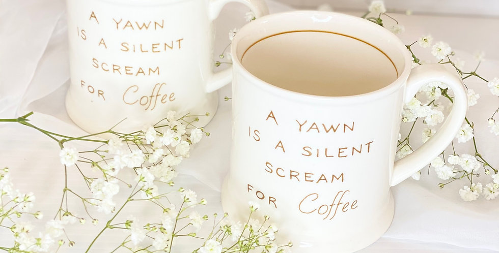 """Silent Yawn"" Mug"