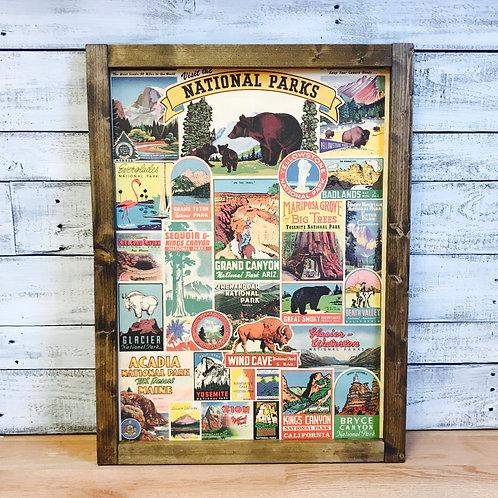 National Parks Framed Vintage Print
