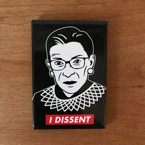 RBG - I Dissent Magnet