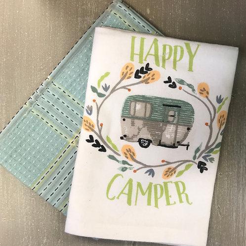 Happy Camper Dishtowel Set/2