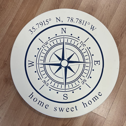 "Coordinate Compass  18"" or 24""Round Sign Kit"