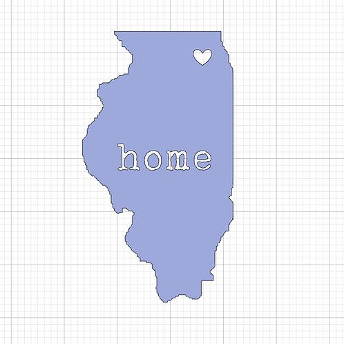 Illinois Home 12x12 Sign Kit