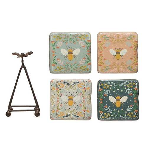 Square Resin Coasters Set of 4