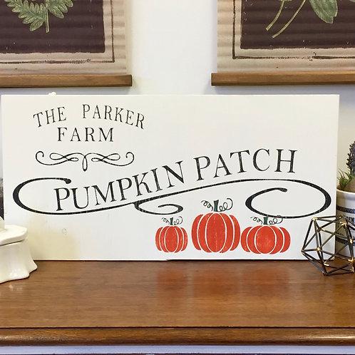Pumpkin Patch 12x24 Sign Kit