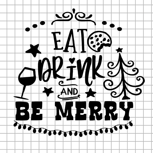 Eat Drink and Be Merry 12x12 Sign Kit