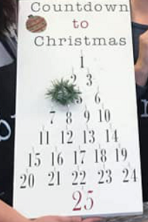 Countdown to Christmas 12x24 Sign Kit